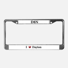 Cute Dayton License Plate Frame