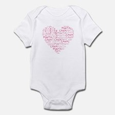 Word Up Heart Punta Cana Infant Bodysuit