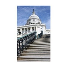 U.S. Capitol Rectangle Sticker 10 pk)