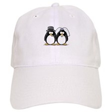 Bride and Groom Penguins Baseball Cap