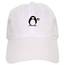 Patriotic penguin Baseball Cap