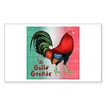 El Gallo Grande Rectangle Sticker 10 pk)