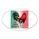 El Gallo Grande Oval Sticker (50 pk)