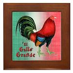El Gallo Grande Framed Tile
