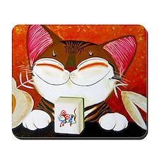 CAT ART ~ The Winning Tile Mousepad