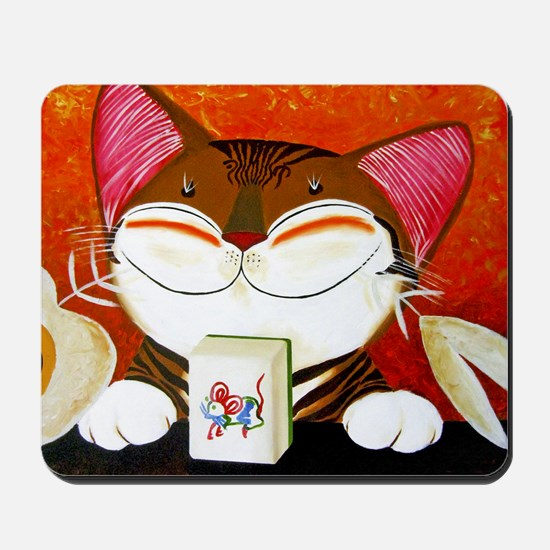 CAT ART ~ The Winning Tile Mousepad
