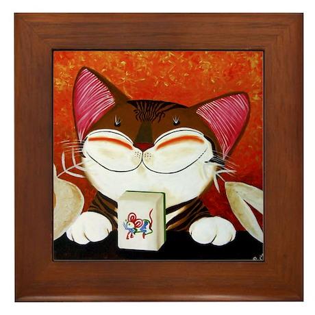 CAT ART ~ The Winning Tile Framed Tile