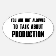 Production Oval Decal