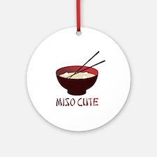 Miso Cute Ornament (Round)