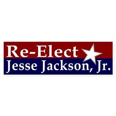 Re-Elect Jesse Jackson Jr. Bumper Bumper Sticker