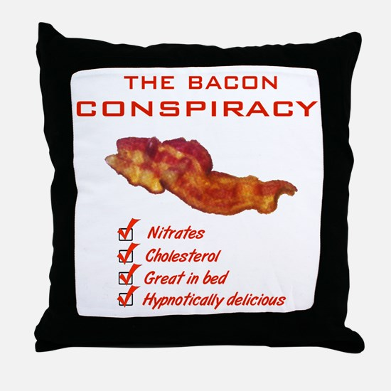 Funny Bacon Throw Pillow