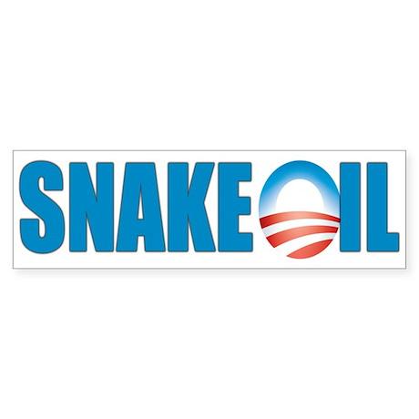 Snake Oil Bumper Sticker