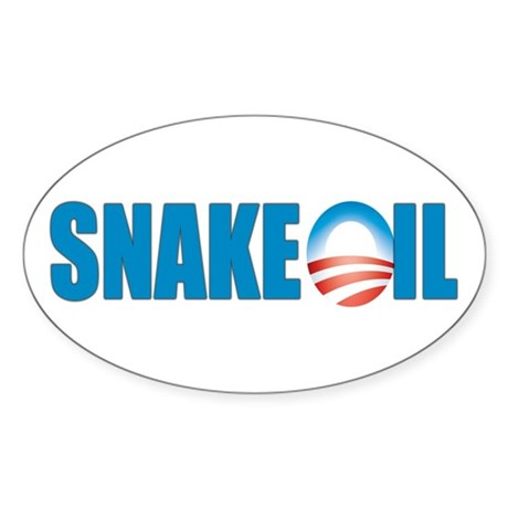 Snake Oil Oval Sticker