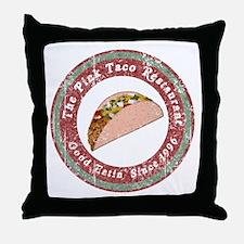 Funny Pink Taco Throw Pillow