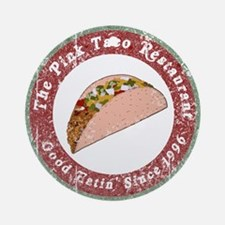 Funny Pink Taco Ornament (Round)