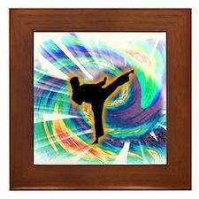 Ninja Swirl Framed Tile