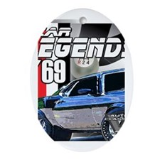 Mustang Legends 69 Oval Ornament