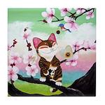 CAT ART ~ Seasons - Spring Ca Tile Coaster