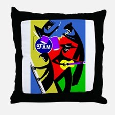 The Band Fame Throw Pillow