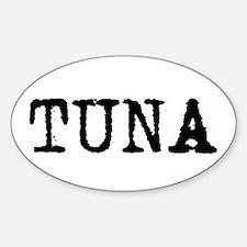 Tuna Oval Decal