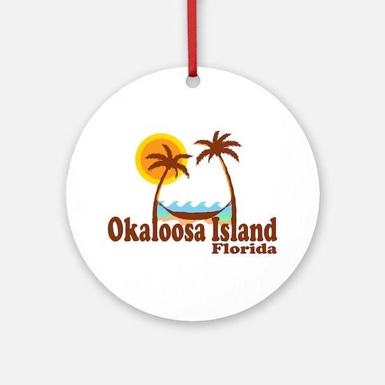 Okaloosa Island FL Ornament (Round)