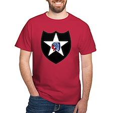 2nd Infantry Division Black T-Shirt