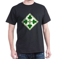 Fourth Infantry Division Black T-Shirt