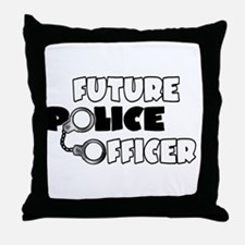 Future Police Officer Throw Pillow