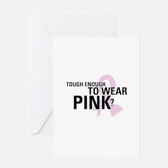 Cute Real men wear pink Greeting Card