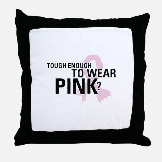 Cute Breast cancer cause Throw Pillow