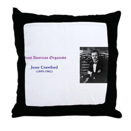 Jesse Crawford Throw Pillow