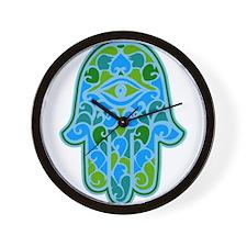 Artsy Hamsa Wall Clock
