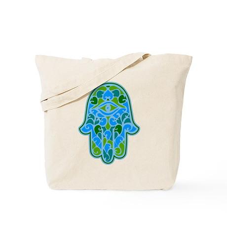 Artsy Hamsa Tote Bag