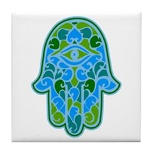 Artsy Hamsa Tile Coaster