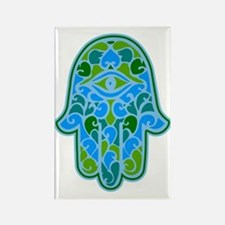 Artsy Hamsa Rectangle Magnet