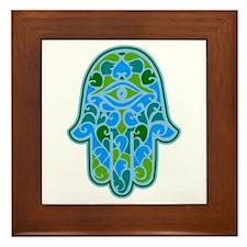 Artsy Hamsa Framed Tile