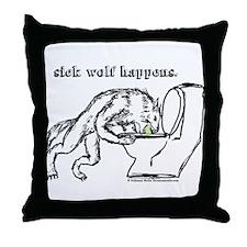 Sick Wolf Throw Pillow