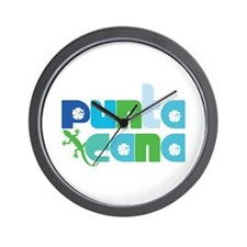 Punta Cana Azul y Verde Wall Clock