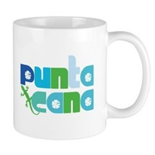 Punta Cana Azul y Verde Small Mug