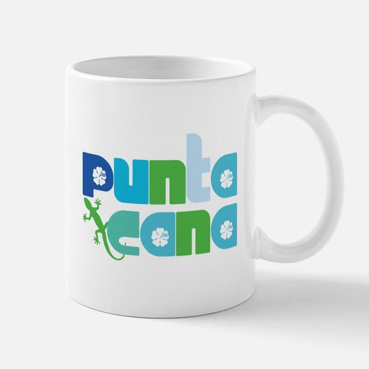 Punta Cana Azul y Verde Small Small Mug