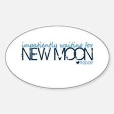 Impatiently ... - blue Oval Decal