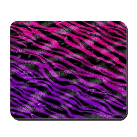 Bright Zebra Fur Stripes Mousepad