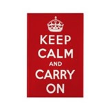 Keep calm and carry on Magnets