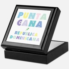 Punta Cana Island Colors Block Keepsake Box