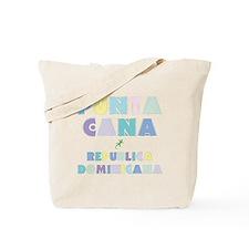 Punta Cana Island Colors Block Tote Bag