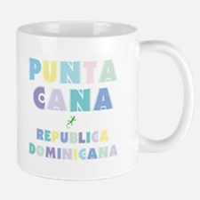 Punta Cana Island Colors Block Mug