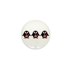 For a cure penguins Mini Button (100 pack)