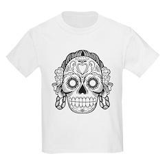 Day of the Dead girl skeleton T-shirt (kids)