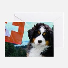 Swiss Berner Puppy Greeting Card