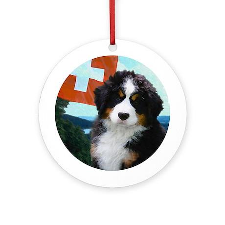 Swiss Berner Puppy Ornament (Round)